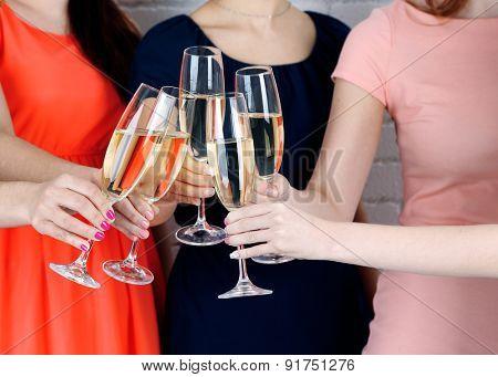 Girls have party celebration
