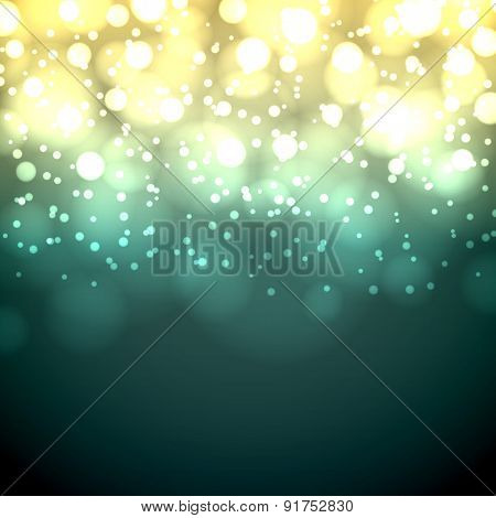Green and yellow dark vintage bokeh vector background.
