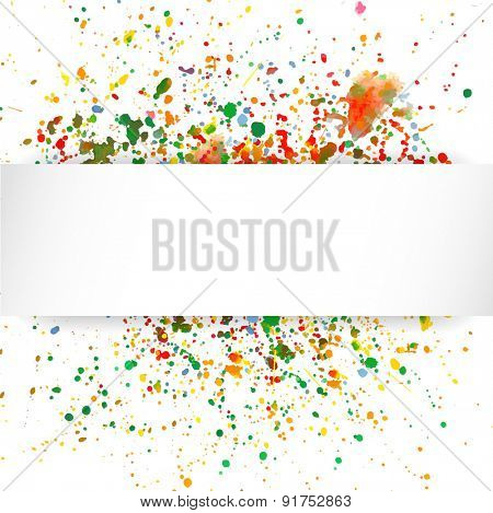 Abstract artistic Background with watercolor splash/ Vector multicolored background