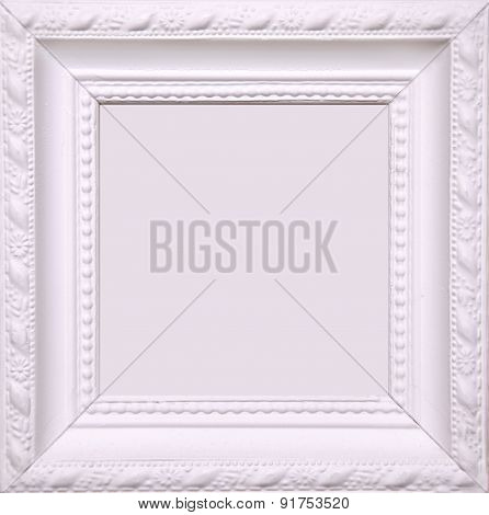 Blank White Picture Frame On Wall