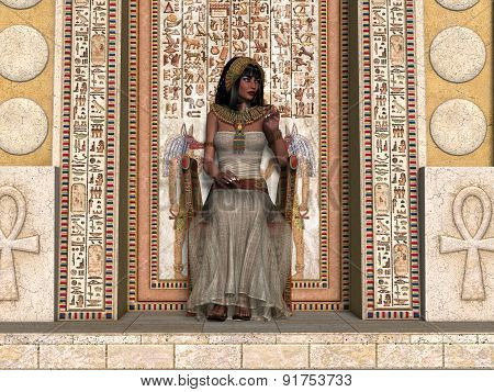 Egyptian Princess Throne