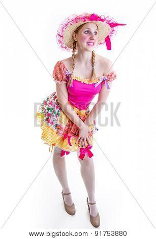 Girl wearing