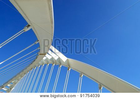 Abstract shape of bridge. Empty space for editor's text