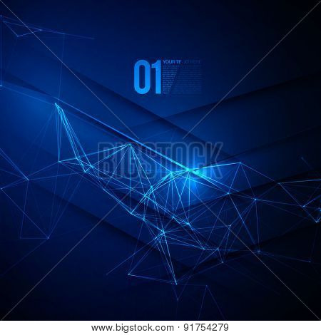 Abstract Blue Laser Light | EPS10 Vector Background