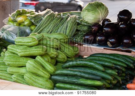 Chayote and Cucumber