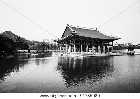 Palace Pavilion In Korea