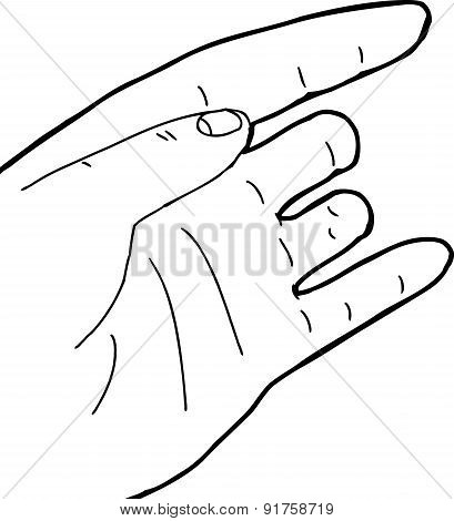 Outline Of Hand With Missing Fingers