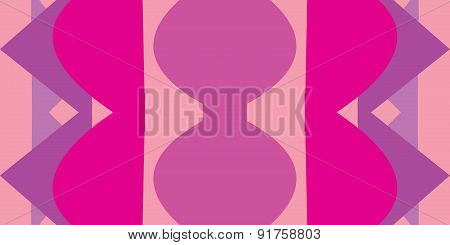 Pink Abstract Hourglass Shapes