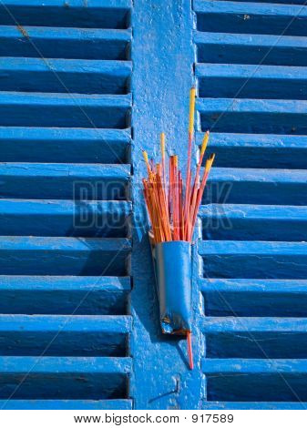 Incense On Window Shutters