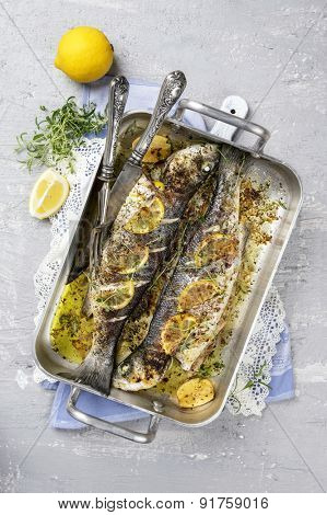 Sea Bass in Casserole
