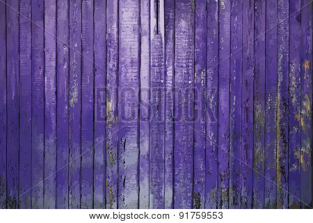 painted old wooden wall. purple background, vector