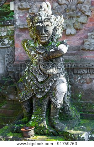 Balinese God Statue In Temple Complex, Bali, Indonesia