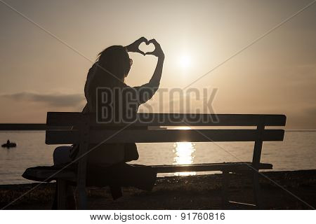 Girl Showing Sunrise.