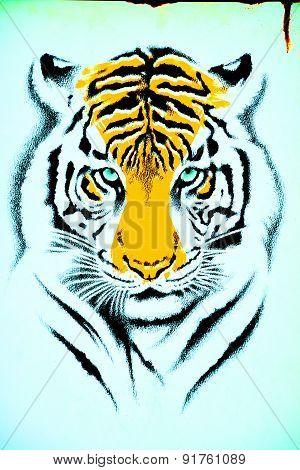 Mural tiger