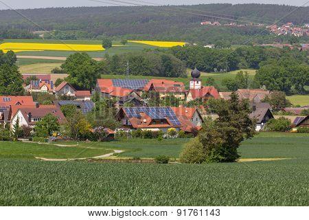 Bavarian Village In Spring