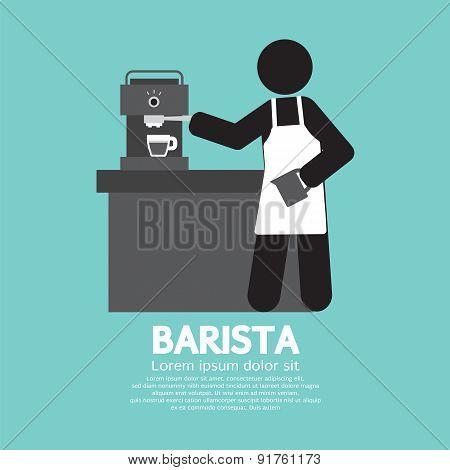 Barista Working With Espresso Machine.