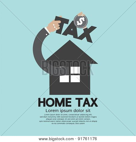 Home Tax The Real Estate Tax Concept.