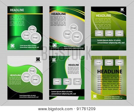 Graphic Design Layout vector template for flyer brochure leaflet poster
