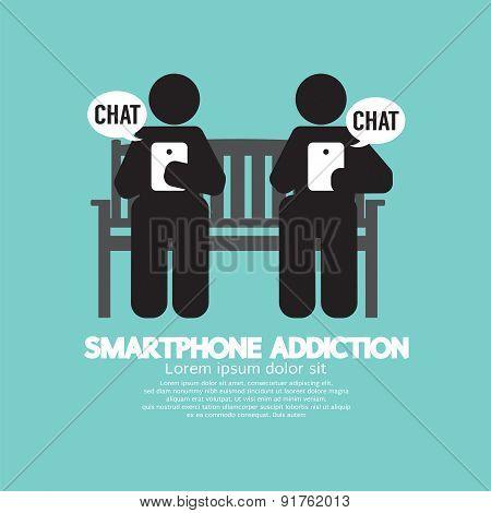 Black Symbol Smartphone Addiction.