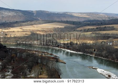 River and fields