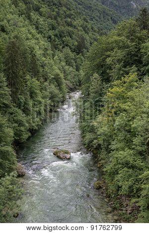 Beautiful view of mountain river