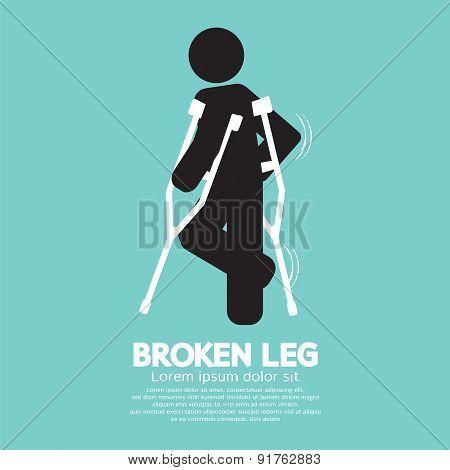 Black Symbol Broken Leg.
