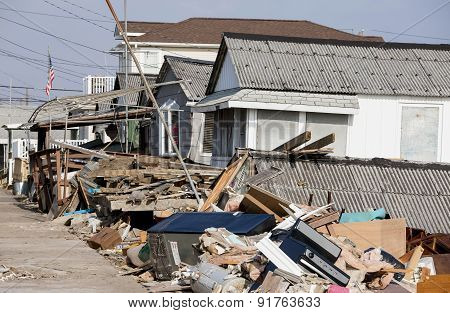 Hurricane Sandy Destruction At Breezy Point
