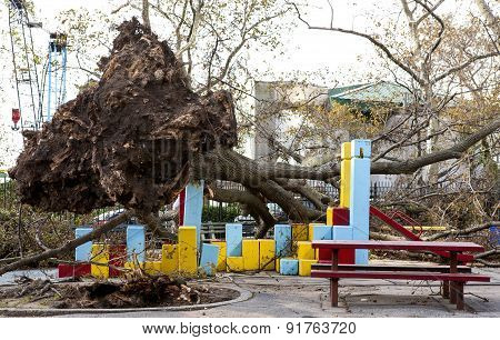Hurricane Sandy Playground