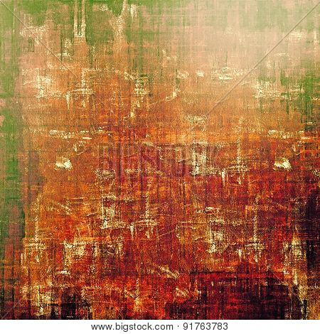Highly detailed grunge texture or background. With different color patterns: yellow (beige); brown; red (orange); green