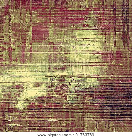 Old grunge antique texture. With different color patterns: brown; gray; purple (violet); green