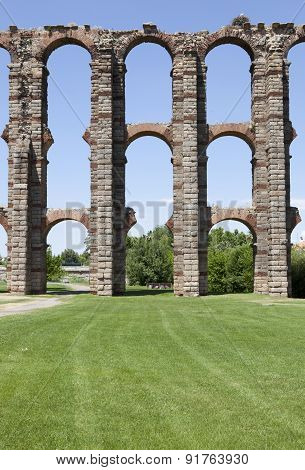 Pillars Of Los Milagros Aqueduct