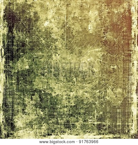 Abstract grunge background or old texture. With different color patterns: yellow (beige); brown; gray; black