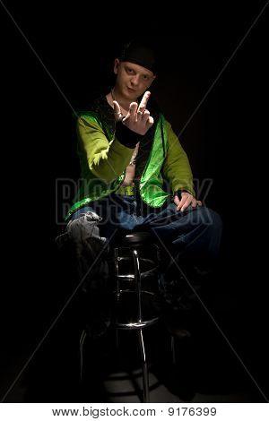 Caucasian Hip-hopper