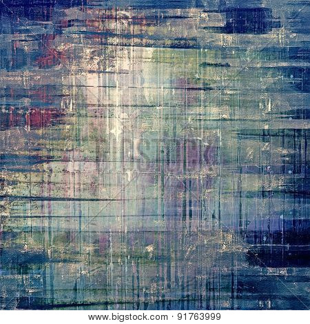 Grunge stained texture, distressed background with space for text or image. With different color patterns: brown; gray; blue; cyan