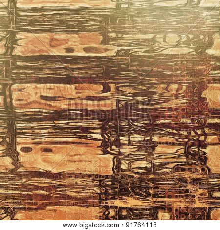 Old antique texture or background. With different color patterns: yellow (beige); brown; gray; black