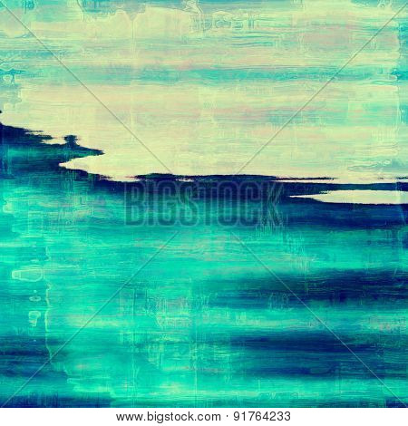 Old and weathered grunge texture. With different color patterns: yellow (beige); blue; cyan
