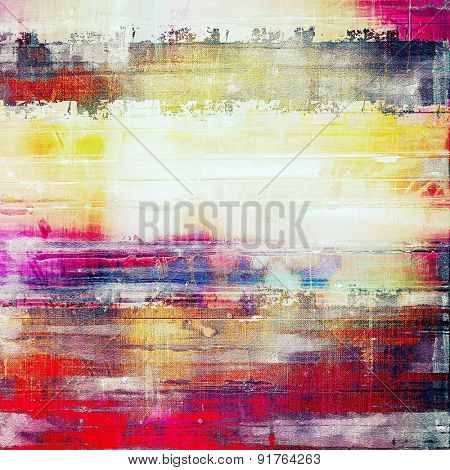 Old and weathered grunge texture. With different color patterns: yellow (beige); red (orange); blue; pink