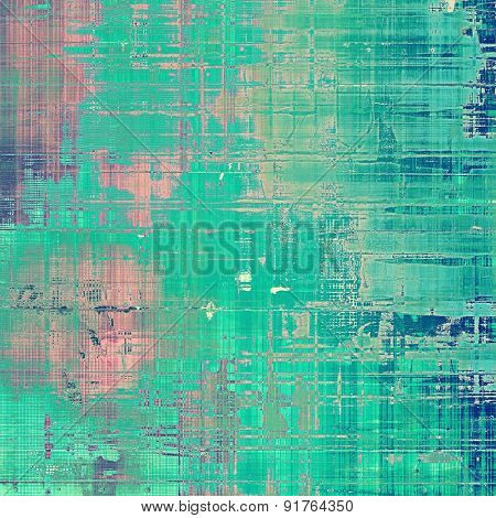 Old Texture or Background. With different color patterns: blue; cyan; green; pink