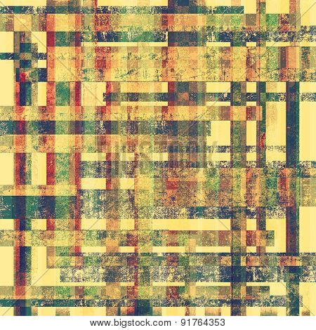 Old antique texture or background. With different color patterns: yellow (beige); brown; blue; green; pink