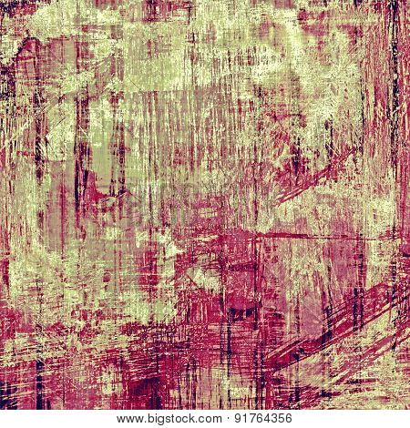 Background with grunge stains. With different color patterns: brown; gray; purple (violet); pink