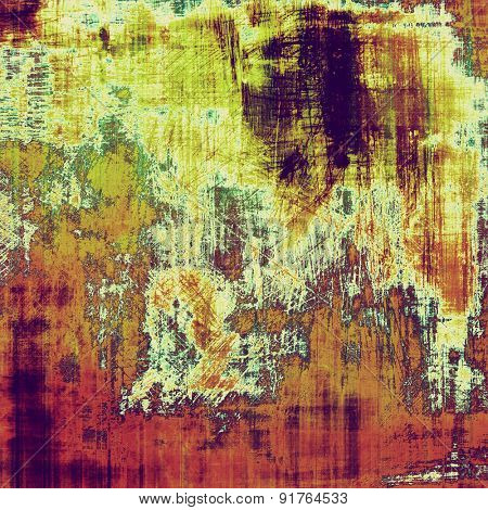 Old grunge antique texture. With different color patterns: yellow (beige); brown; purple (violet); green