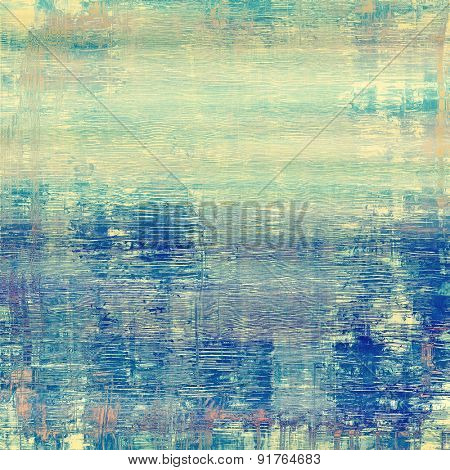 Old abstract grunge background for creative designed textures. With different color patterns: yellow (beige); gray; blue; cyan