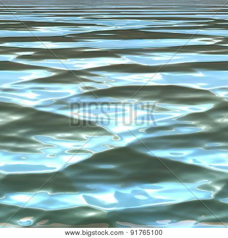 Seamless Blue Water Background