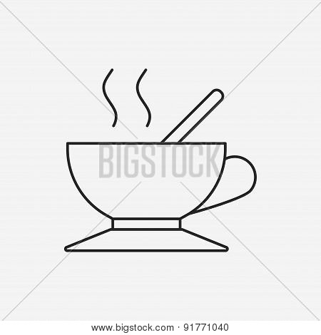Hot Coffee Line Icon