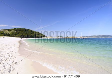 Rodas Beach In Islands Cies.