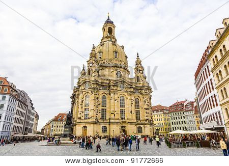 View Of Frauenkirche In Dresden