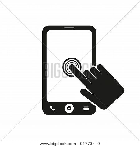 The Click On The Screen Mobile Phone