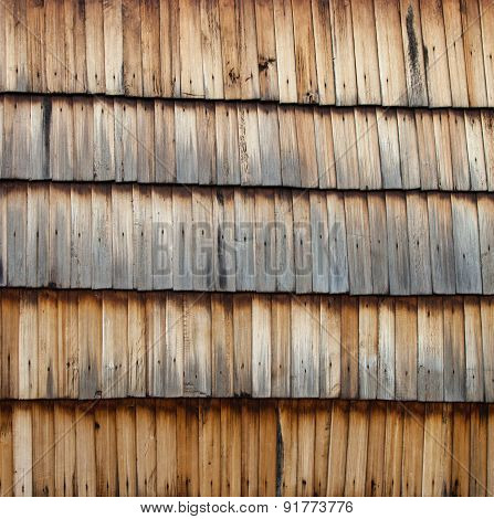 Old Wooden Shingle Surface