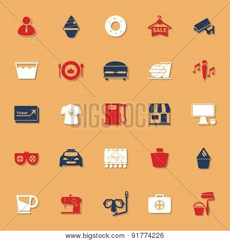Franchisee Business Classic Color Icons With Shadow