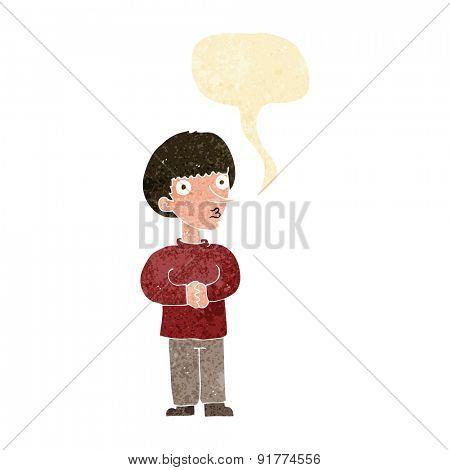 cartoon man with speech bubble